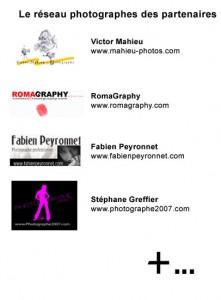 Découvrez le réseau de photographes partenaire du ZicMeUp Tour